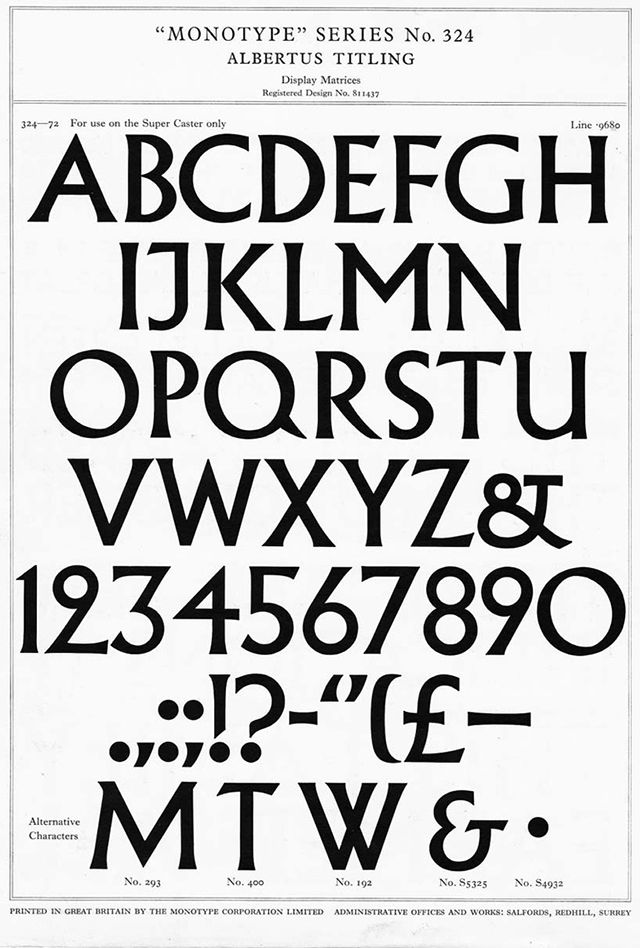 The Albertus typeface crops up in all manner of applications from John Carpenter films to the street signage used in the City of London. But it was also a vital part of creating the visual world of the 1960s TV show, The Prisoner...