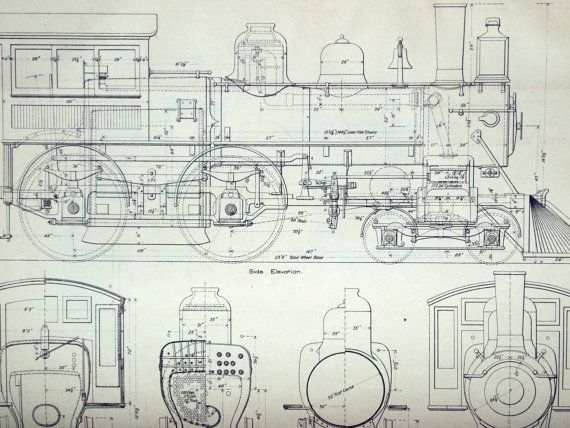 87 best blueprints railroads images on pinterest train trains 1893 poster sized antique engineering drawing of by bananastrudel malvernweather