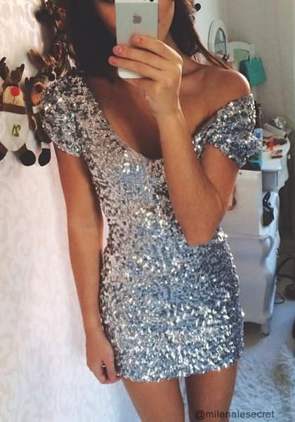 Don this glimmering dress for a look that will turn heads.