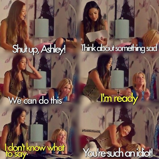 Bloopers - Pretty Little Liars I love the bloopers omg