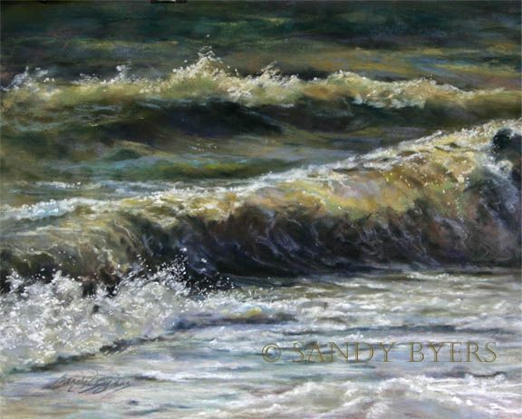 Sandy Byers Pastel Seascape Beach Water Painting