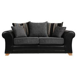 Buy Lima Fabric Mix Medium 3 Seater Sofa Black And Charcoal From Our All Sofas Range At Tesco Direct We Stock A Great Of Products Everyday Prices