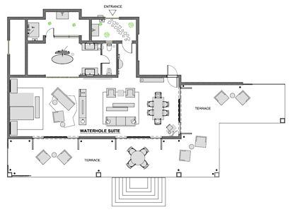 Waterhole suite's plan