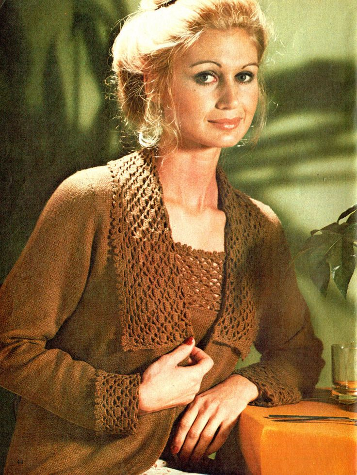 PDF Vintage 1970s Ladies Lacy Cardigan by TheAtticofKitsch on Etsy