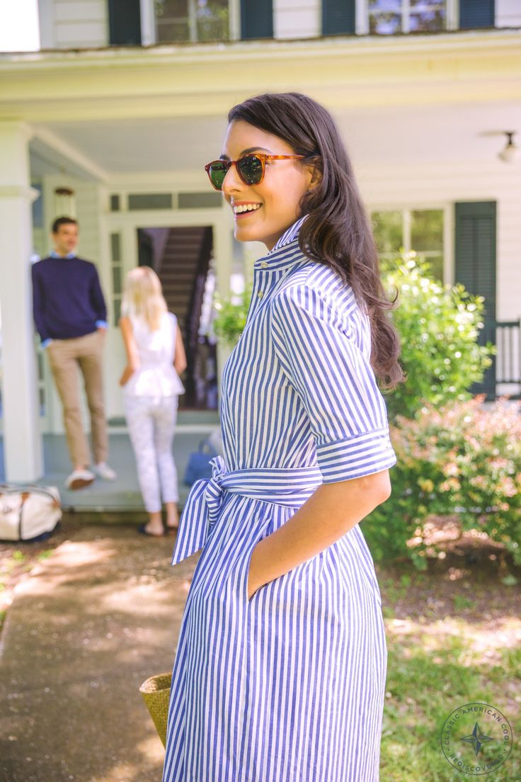 When a shirt meets a dress, we get excited. This outfit can is perfect for work or play. AKA, our dream dress.