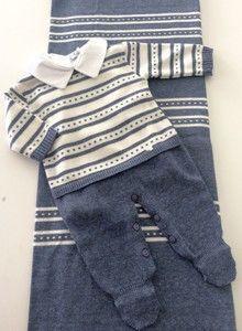 Kit Saída de Maternidade Completo Menino Azul Jeans
