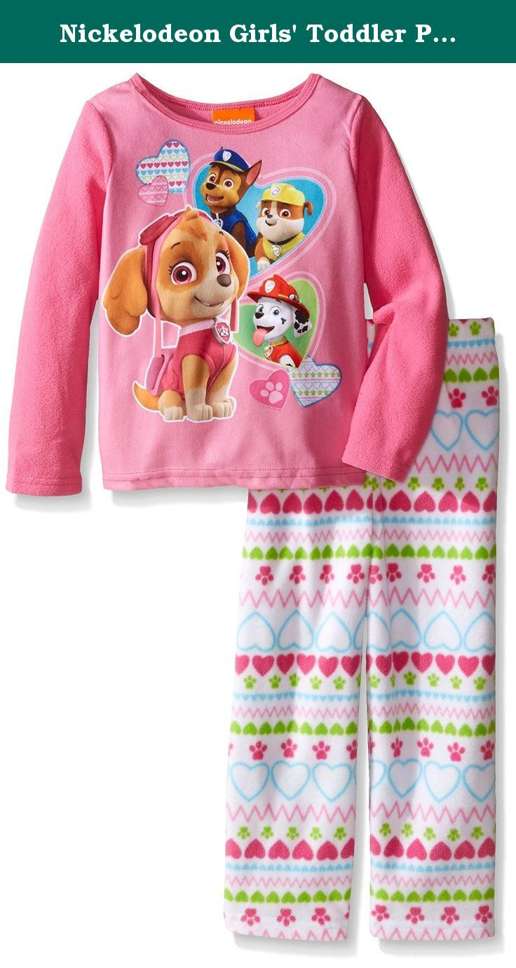 Nickelodeon Girls' Toddler Paw Patrol 2-Piece Pajama Set, Pink, 3T. Get ready for bed with your favorite rescue squad, the paw patrol, in this extra soft pajama set! the bright colors and fun graphics are sure to be a new bedtime favorite! perfect for sleeping and lounging.