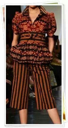 An interesting little batik ensemble.