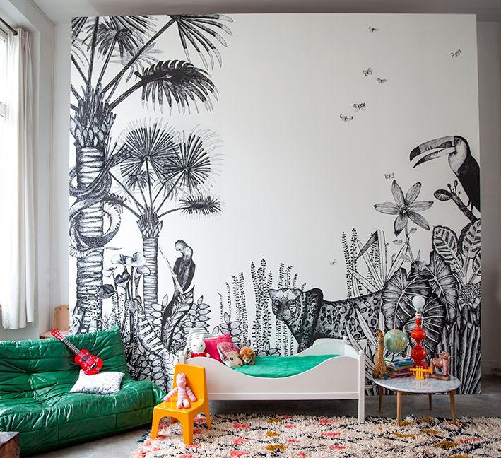 Faite entrée la jungle dans la chambre de votre enfant avec de belle illustration au mur ! Qu'en pensez-vous ? Nous on adore !!