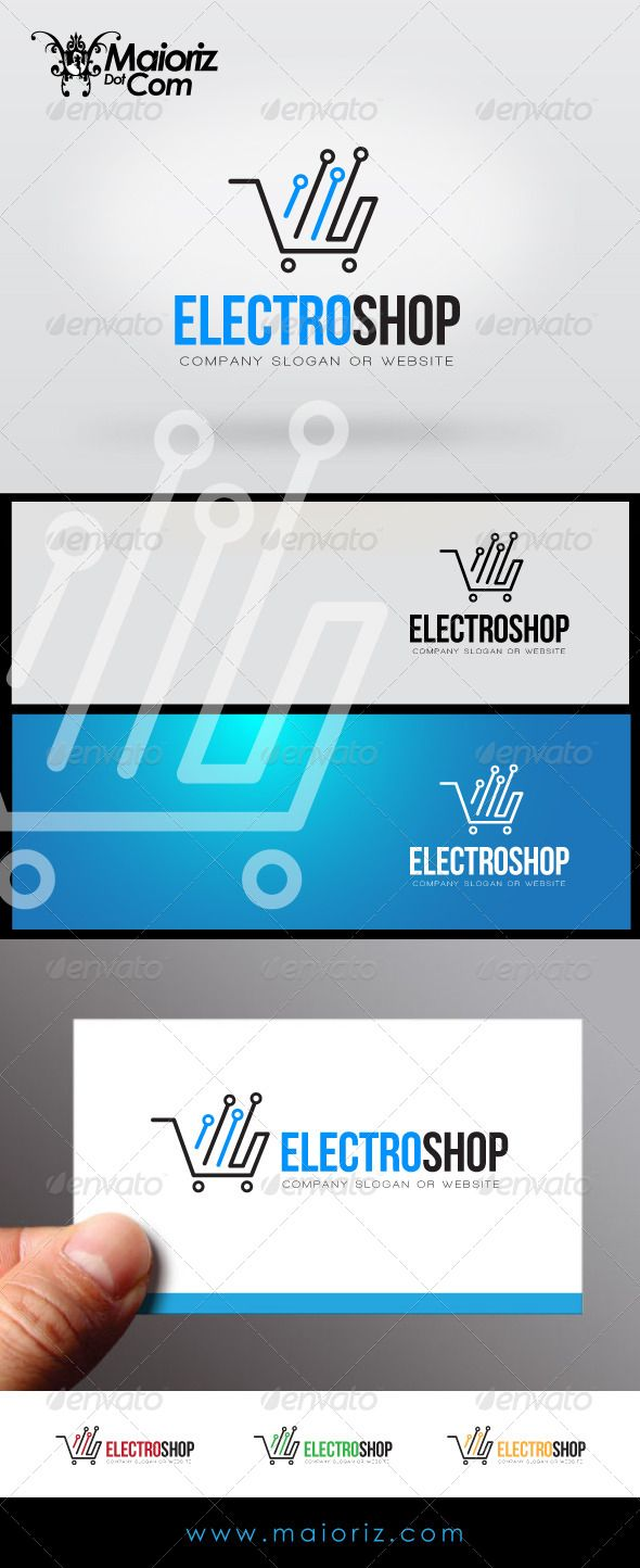 Electro Shop Logo by maioriz File DescriptionThis is custom logo template. Illustrator (AI), Vector (EPS) logo files included in this download. You can customi