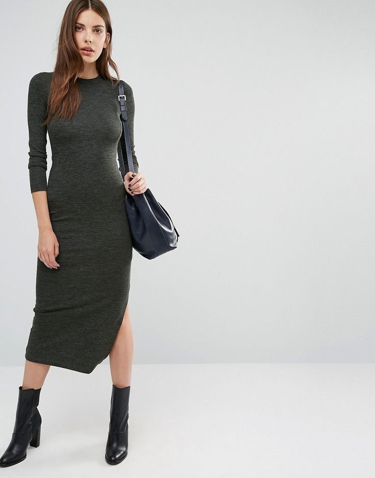 Image 4 ofFrench Connection Knitted Midi Dress