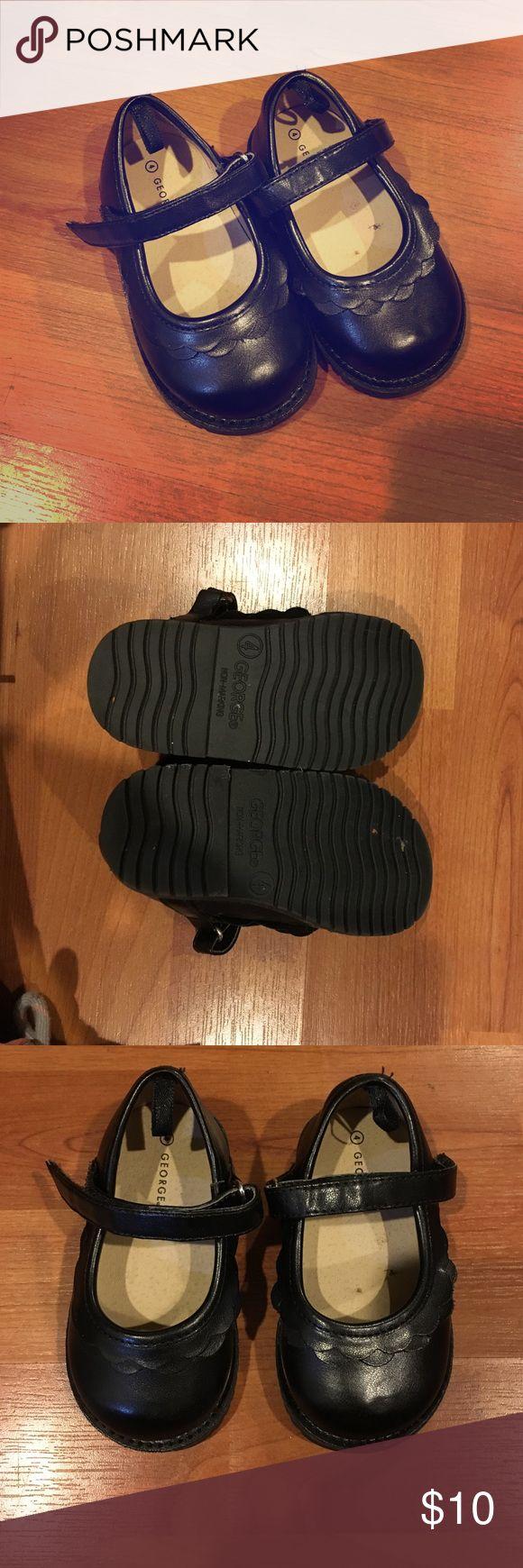 Toddler black dress shoes Black, George size 4 toddler dress shoes. In good condition. George Shoes Dress Shoes