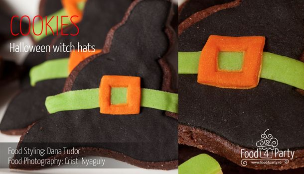 Biscuiti Witch Hats de Halloween | food4party