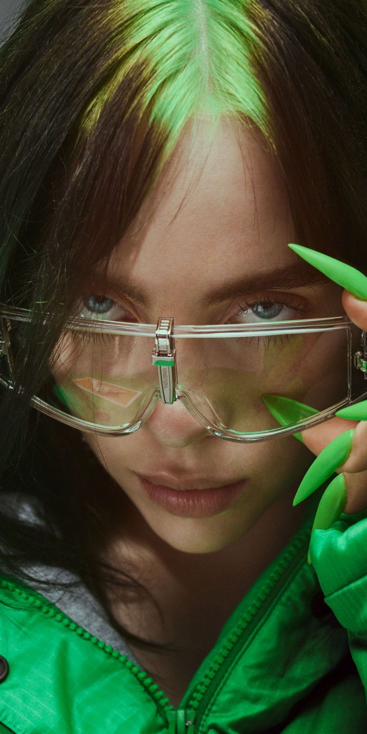 1080x2160 Elle, 2019, Billie Eilish, sunglasses wallpaper