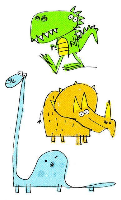 dino doodles | Flickr - Photo Sharing!