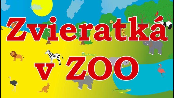 Zvieratká v ZOO - animované zvuky zvierat pre deti a najmenších - zvuky zvierat žijúcich v ZOO