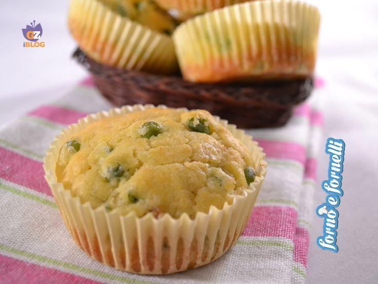 Muffin piselli e tonno, ricetta sfiziosa