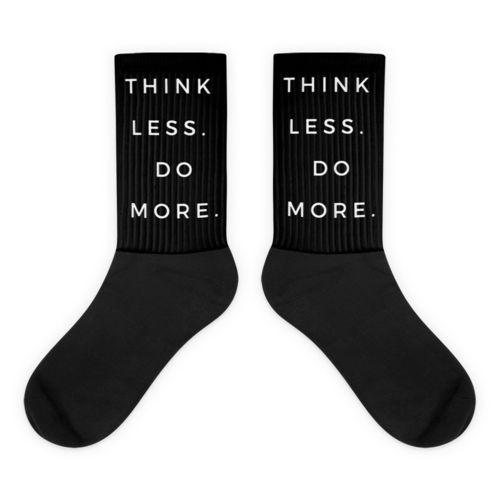 Black TLDM Black foot socks