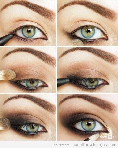 Tutorial con fotos paso a paso para maquillaje ahumado marrón