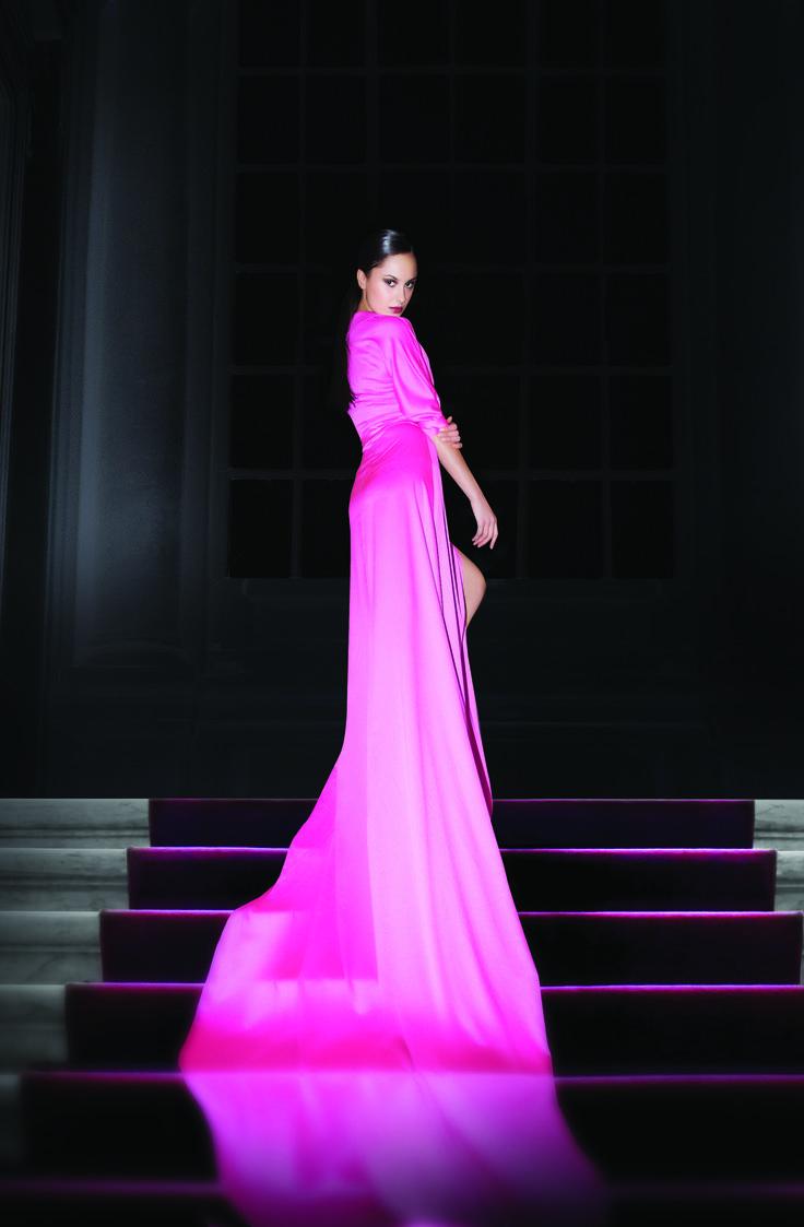 oneshot, oneshotreklam, woman dress, pink, fuchsia