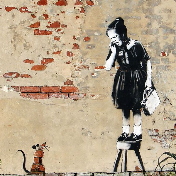 165 best banksy streetart leinwand und poster drucke images on pinterest. Black Bedroom Furniture Sets. Home Design Ideas
