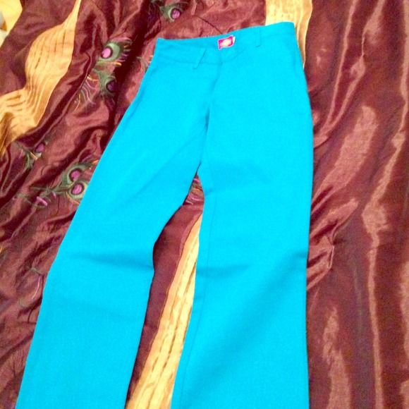Electric Blue Pants Pants in an amazingly bright and vibrant light blue. Dickies Pants