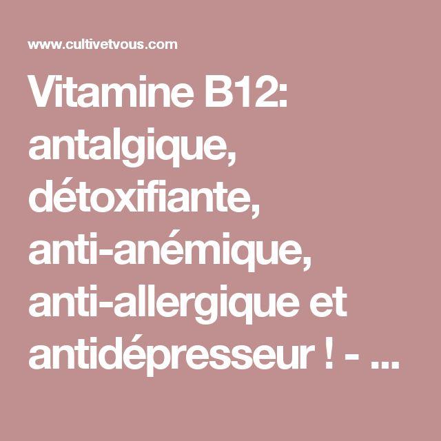 Vitamine B12: antalgique, détoxifiante, anti-anémique, anti-allergique et antidépresseur! - Cultiv'etVous