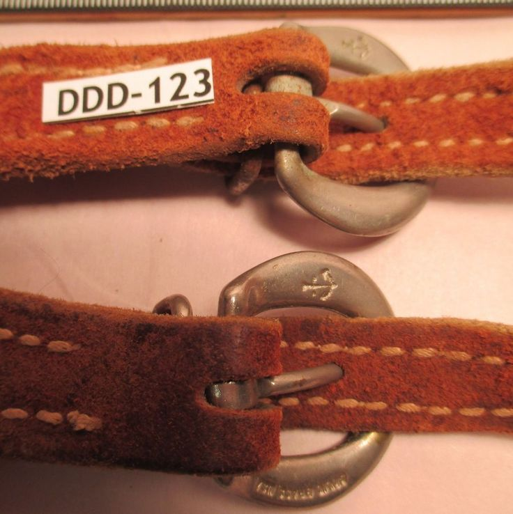 Old Used Leather SPUR STRAPS with NORTH & JUDD Buckles with Rawhide MAKE OFFER #AntiqueWestern