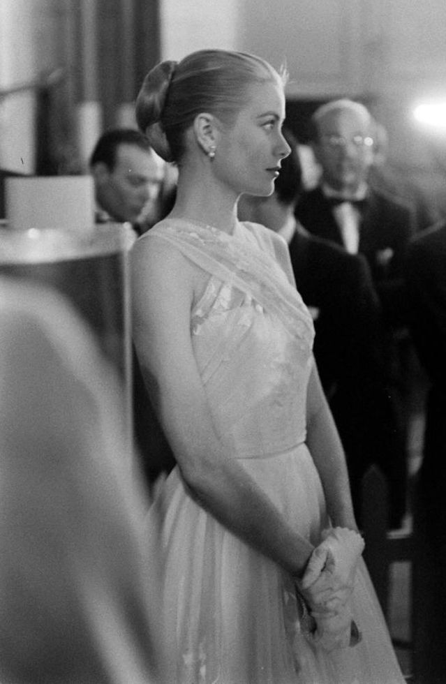 Grace Kelly at the Academy Awards shortly before leaving for Monaco.