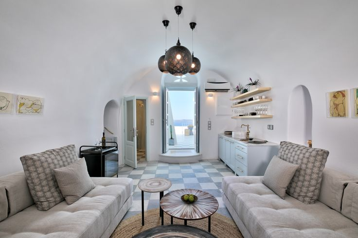 Project: Luxury villa Namaste Suites for rent,  Location: Oia, Santorini Architect: Elias Apostolidis Interior Designer: Maria Chatzistavrou- Lime Deco Photographer: George Fakaros