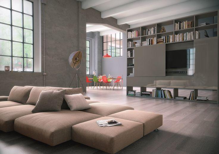 pour cr er une s paration dans une vaste pi ce cet ensemble double face est c t salon une. Black Bedroom Furniture Sets. Home Design Ideas