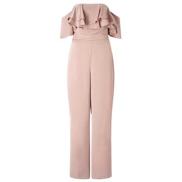Lipsy Jumpsuit ($80) ❤ liked on Polyvore featuring jumpsuits, lipsy jumpsuit, lipsy, jump suit and pink jumpsuit