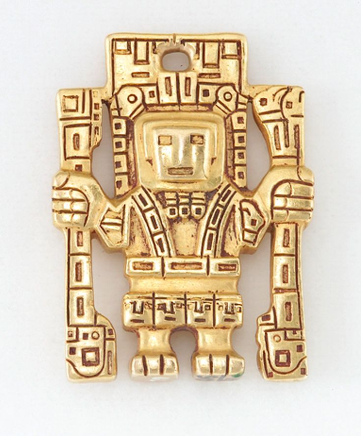 Pendant in human form, probably from the Tiwanaku (Tiahuanaco) culture | Cast gold | ca. 800 - 1000 AD.