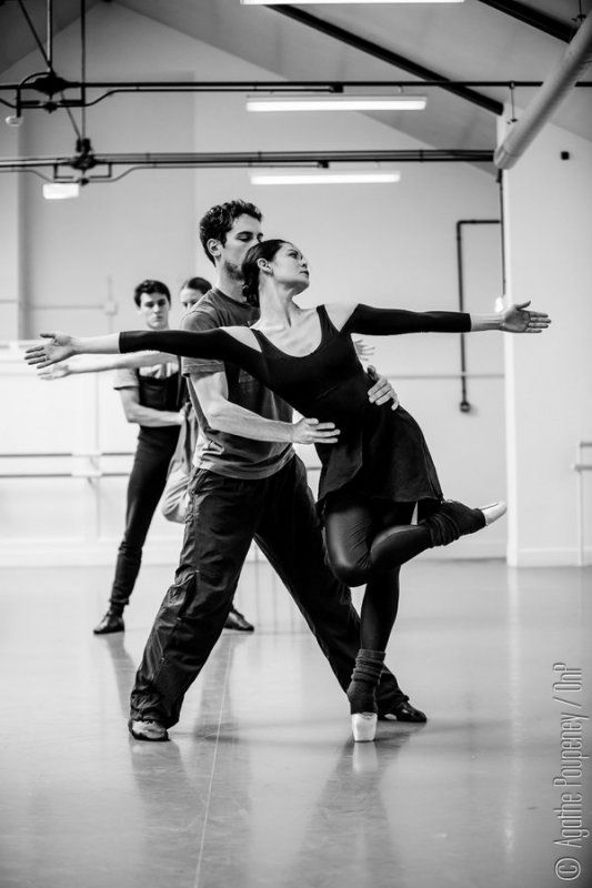 Alice Renavand et Stéphane Bullion, AndréAuria, Edouard Lock ©Agathe Poupeney/OnP