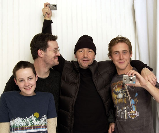 Jena Malone posed with a young Ryan Gosling, Mathew Ryan Hoge, and Kevin Spacey at Sundance in 2003.