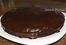 Торт Брауни в шоколадной глазури