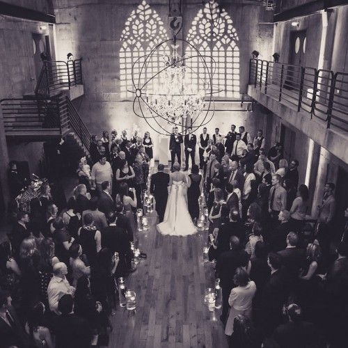 Fremont Foundry Seattle Wedding. Mock Cathedral lighting by Crimson Haze.