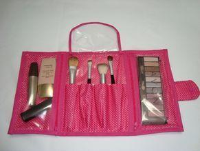 Porta Maquiagem Poá Rosa