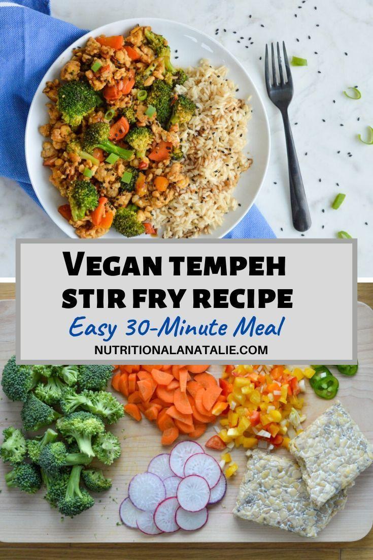 Vegan Tempeh Stir Fry With Broccoli Hoisin Sauce 30 Minute Dinner Recipe In 2020 Vegetarian Recipes Dinner Vegan Recipes Healthy Vegetarian Vegan Recipes