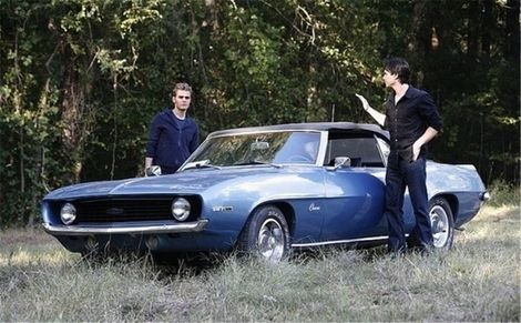 -chevrolet-camaro-ss-convertible-1969-  From Vampire Diaries - LOVE, LOVE, LOVE Camaro!!!!  Okay and the vamps!
