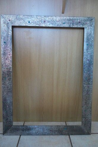 Very large Picture frame with Pewter Art