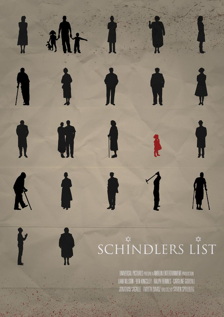 Based on Schindler's Ark, by Thomas Kenneally. Won ACADEMY AWARDS in 1993 for BEST PICTURE, starring Liam Neeson.
