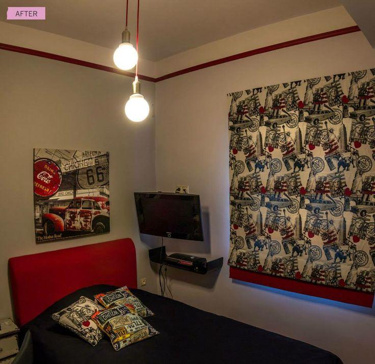 Ένα εφηβικό υπνοδωμάτιο...