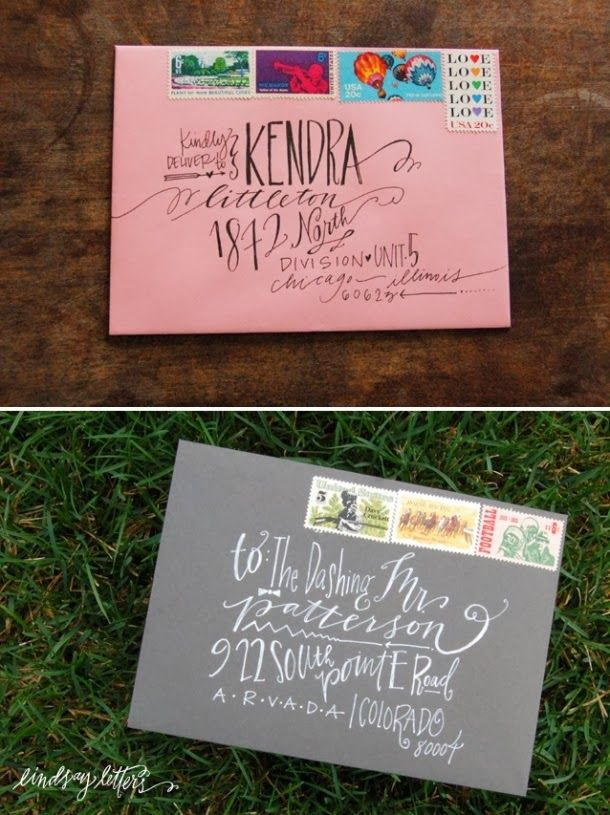 Fun ways to address an envelope Like