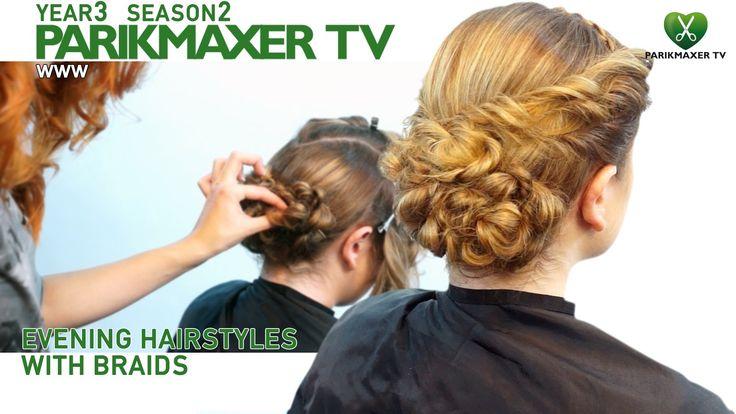 Прическа с плетением Evening hairstyle with braids. парикмахер тв parikm...