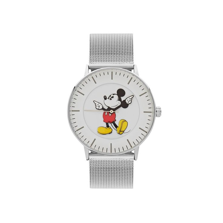 The Original Mickey Collection Watch - Silver Mesh 40mm