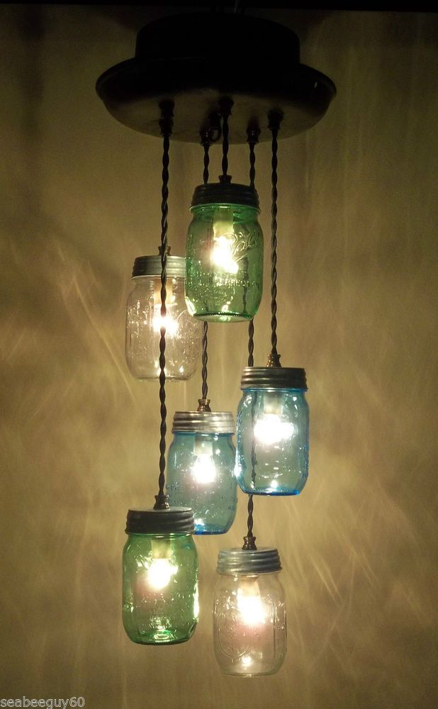 Vintage borden milk can light fixture antique dairy can chandelier mason jars borden wedding - Can light chandelier ...
