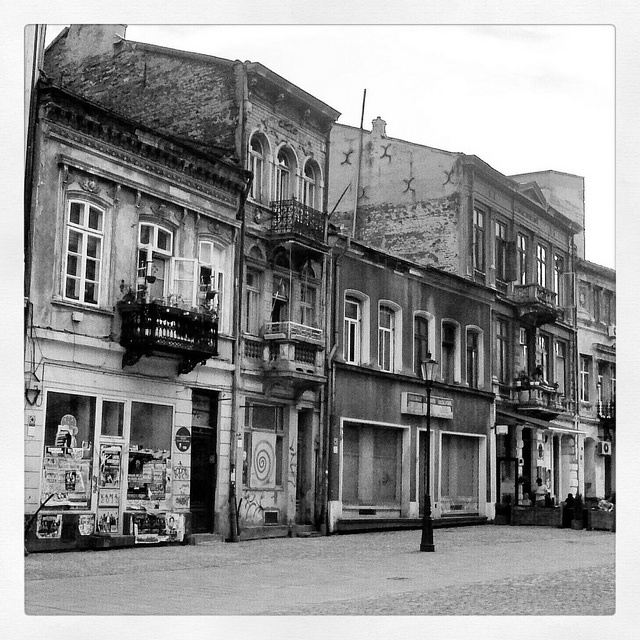 Bucharest-Old City in black and white by metela, via Flickr