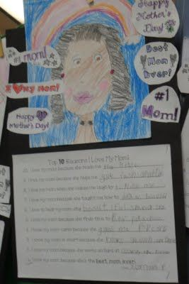 mom portrait and top 10 reasons they love their mom--super cute