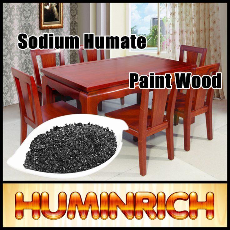 """HuminRich"" 70% Humic Acid Coloring Effect Economic Special Fertilizer Sodium Humate Paint Wood Colour"